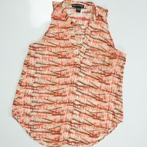 Fall perfect pattern sleeveless top sz S